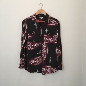 The Odells Southwestern Print Button Down Blouse